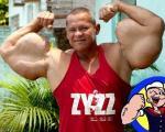 عضلات عجیب و باورنکردنی یک مرد بدنساز +تصاویر