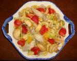 سالاد قارچ با مرغ و پاستا