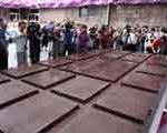 تهیه بزرگترین شكلات تخته ای جهان با بیش از ۴هزار كیلوگرم وزن