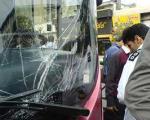 اتوبوس«BRT » با یك پلیس راهور برخورد كرد
