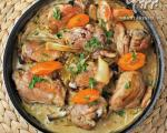 مرغ سرخ شده  با سس خامه و خردل