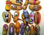 هنرنمایی های جالب با بادام زمینی +عکس