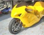 موتورسیکلت پرقدرت موشکی طراحی شد