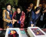 گوهرخیراندیش، ترانه علیدوستی و نگار جواهریان در افتتاحیه جشنواره فیلم پروین اعتصامی