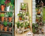 ایده های ساخت باغچه های آویز در دکوراسیون منزل