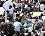 تجمع کارمندان وزارت صنایع مقابل مجلس همزمان با سخنرانی وزیر صنعت