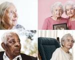 چهره افراد بالای صد سال که اغلب زن هستند