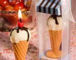 شمع بستنی شکل