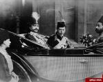 ناصرالدین شاه و پسر ملکه ویکتوریا در کالسکه