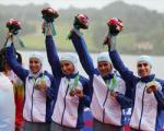اولین مدال قایقرانی ایران بر گردن دختران