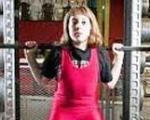 عکس / حرکت عجیب دختر وزنه بردار