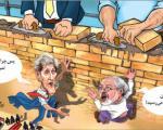(بعید است ایران وآمریکا فعلا از دیوار بی اعتمادی عبور کنند/هفتهنامه توفیق(کاریکاتور
