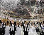 ازدواج همزمان 3500 زوج از سراسر دنیا +تصاویر