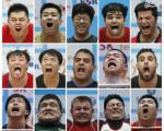 عکس: چهره جالب ورزشکاران زیر وزنه