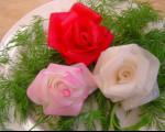 تزئین ترب و هویج به شکل گل رز