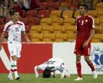 (تصویر) سجده شکر آندو پس از پایان بازی