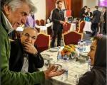 نیکی کریمی و رضا کیانیان از زاویهای متفاوت / عکس