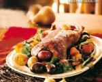 اردك كبابی با سبزیجات