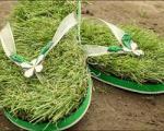 تولید دمپایی چمنی برای حس قدم زدن در طبیعت