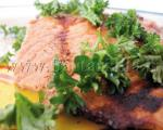 استیك ماهی تن با سس تارتار و زیره