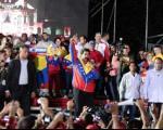 جشن پیروزی یاران چاوز در کاراکاس +عکس