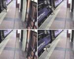 افتادن یك زن انگلیسی به زیر قطار ( عكس )