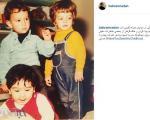 بهرام رادان خردسال در مهد کودک +عکس
