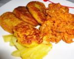 پیراشکی مرغ با خمیر سیب زمینی