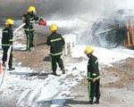 ۲۰ خودرو در این حادثه طعمه آتش شد