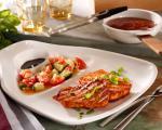 طرز تهیه استیک مرغ در فلفل دلمه ای قرمز