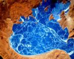 دریاچه یخ زده هیمالیا را از ایستگاه فضایی تماشا کنید