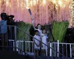 وقتی یانگوم مشعل المپیک آسیایی را روشن می کند +تصاویر