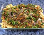 طرز تهیه ماهى و سبزیجات در فر برای شب عید