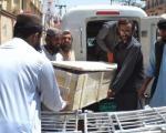 تصاویر انتقال اجساد از محل مرگ احتمالی ملا منصور