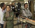 رضا عطاران و مریلا زارعی در پشت صحنه یک فیلم / عکس
