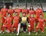 تیم ملی ایران با پیراهن سفید برابر روسیه