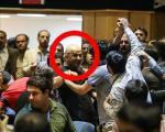 (تصویر) فردی که در کنفرانس روحانی شعار سر داد+جزئیات