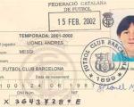 اولین کارت عضویت لیونل مسی در بارسلونا رسانه ای شد/عکس