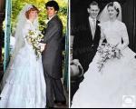 3 نسل از دخترهای یک خانواده با یک لباس عروس +عکس
