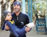 کودک معلول ایرانی اعجوبه شنا +عکس