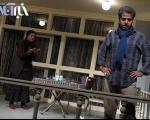 عکسهای لادن مستوفی و ایوب آقاخانی روی صحنه تئاتر
