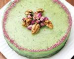 چیز کیک خیار و نعناع: شیرینی، نان و پنیر و خیار!