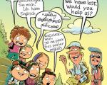 تدریس 6 زبان خارجه در مدارس!/کاریکاتور