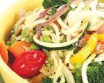 گیاهخواری با بروکلی و کدو به اضافه پنیر پارمزان