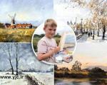نقاش 9 ساله، میلیونر می شود+عکس