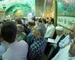 هاشمی در حرم امام رضا(ع) (تصاویر)