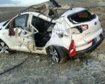 واژگونی اسپورتیج در جاده جلفا +عکس