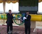 خط دوم انتقال گازتركمنستان به ایران افتتاح شد