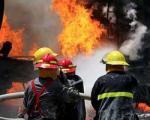 آتش سوزی مهیب در خیابان سپهسالار