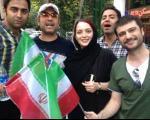 مهدی پاکدل و بانو در جشن صعود تیم ملی